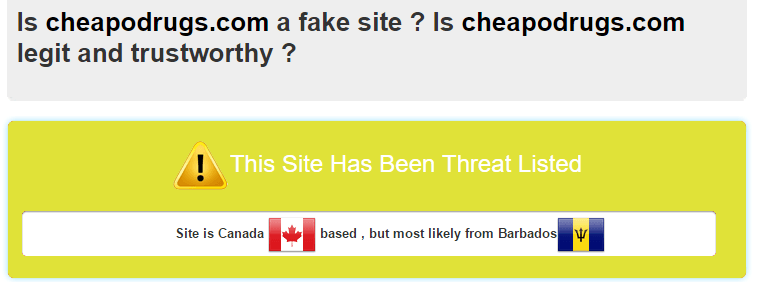CheapoDrugs.com Scam Analysis by Scamadviser