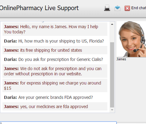 Customer Service Support via Live Chat on Grant Pharmacy
