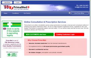 Prima-Med.com Front