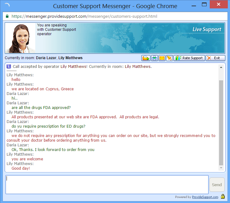 Chat with Customer Support Center