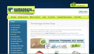 Front Page of Kamagra24.com