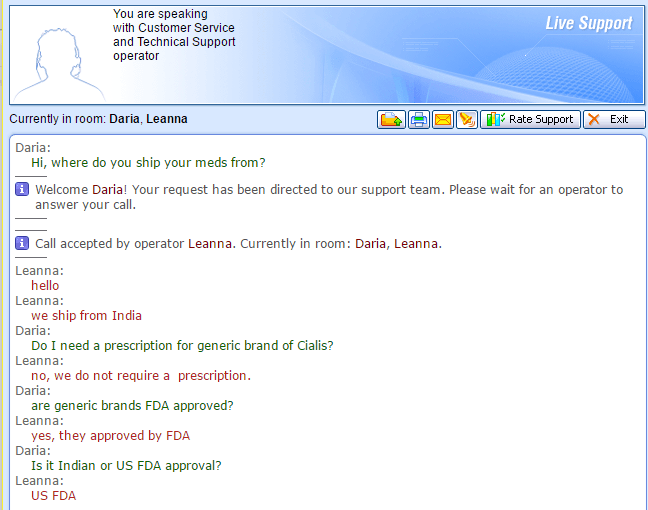 Customer Service Support via Live Chat on Online 24 7 Sale