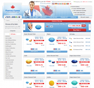 Front Page of Rx Pharmacy online 24