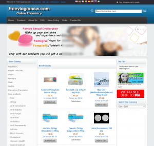 FreeViagraNow.com Home Page