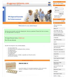 The Main Page of Drugprescription4u.com