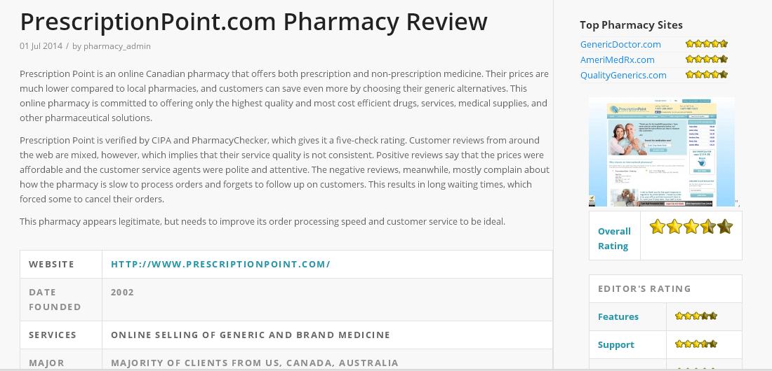PrescriptionPoint.com Reviews