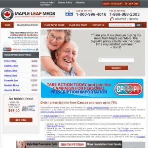 Mapleleafmeds.com Design