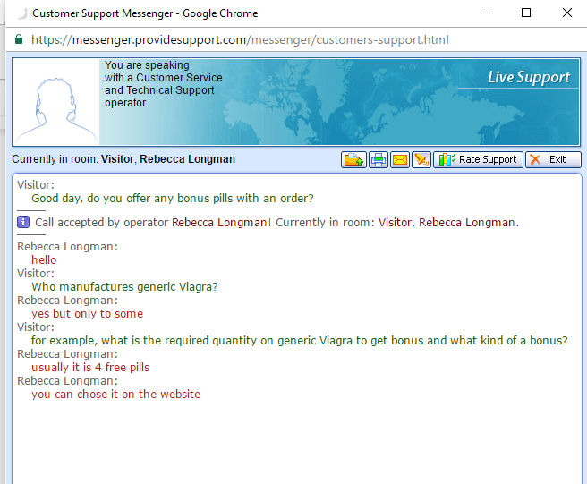 Customer Service Support via Live Chat on Asiapharm.net