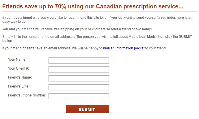 Referral Deal on Mapleleafmeds.com