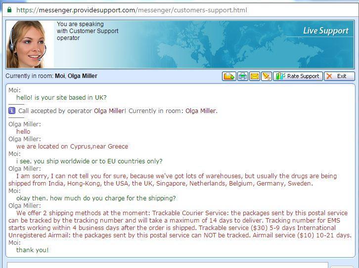 Customer Service Support via Live Chat on Get-Mens-Meds.com