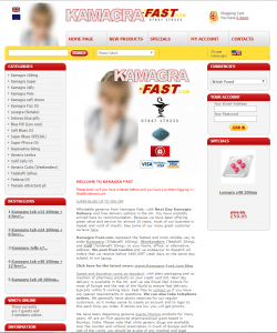 Front Page of Kamagra-Fast.com
