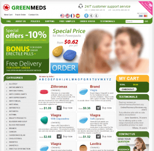 Front Page of Greenmeds.net