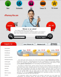 Epharmacy-One.com Design