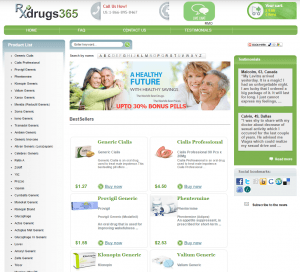 Front Page of Rxdrugs365.com