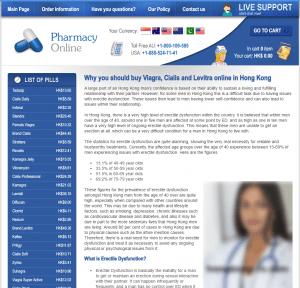 Main Page of Hongkong-Rx.com
