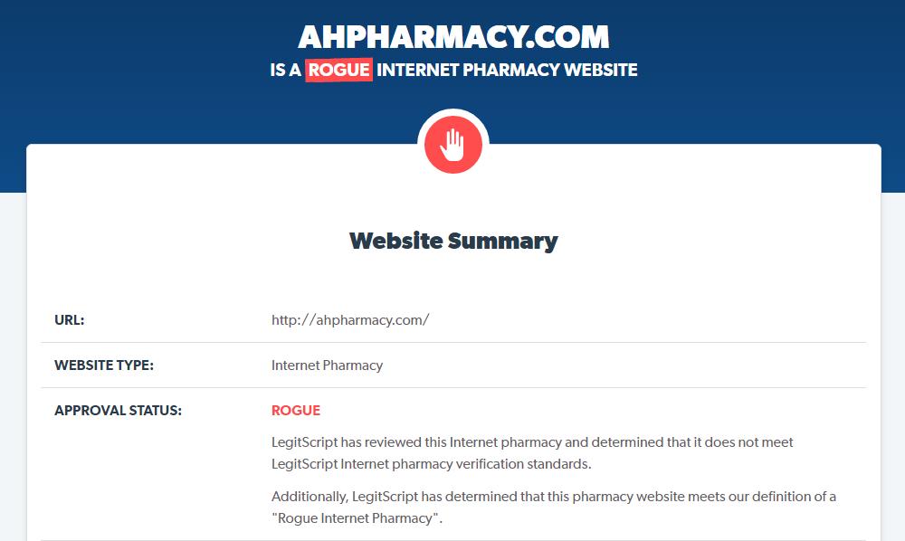 Ahpharmacy Reputation 2016