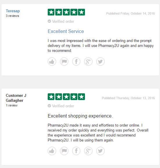 Pharmacy2u Reviews 2016