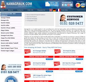 Kamagrauk.com Design