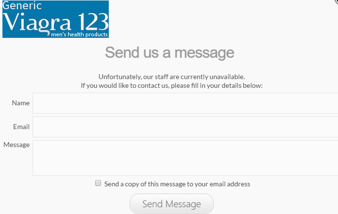 Customer Service Message Window on Genericviagra123.com