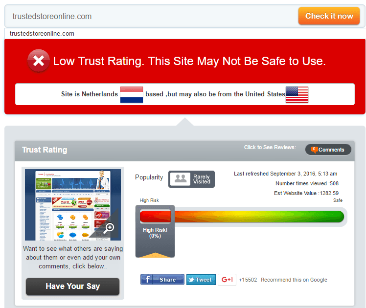 Trust Ed Store Online Trust Rating by Scamadviser