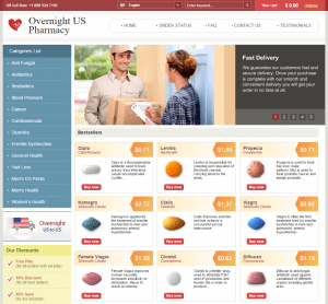 Main Page of Overnight-US-Pharmacy.com