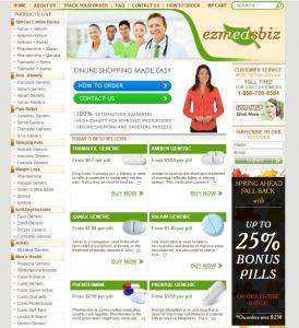 Main Page of Rx-ezmedz.com
