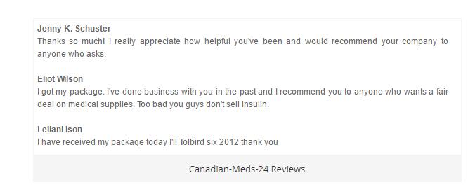 Canadian-Meds-24.com Feedback