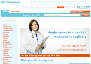 Front Page of Medformula.com