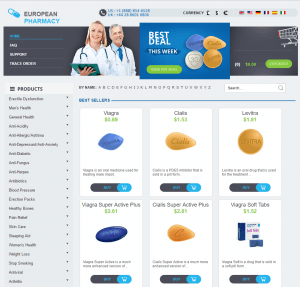 Front Page of European-Pharmacie.com
