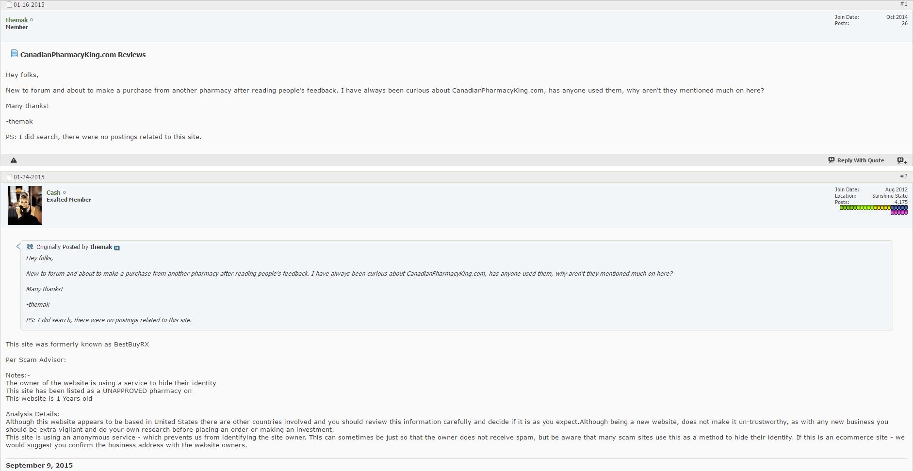 Canadianpharmacyking.com Reviews
