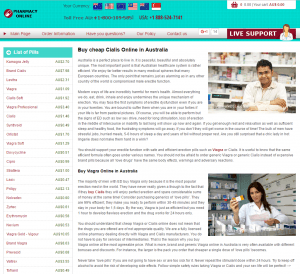 First Page of Sydneytablets.com
