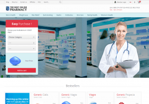 Front Page of Thebestonlinepharmacy.biz