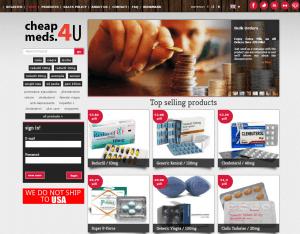 Home Page of Cheapmeds4u.com