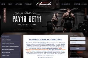 First Page of Massroids.com