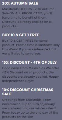 Discount Offer by Massroids.com