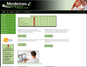 Front Page of Medicinesfaster.com