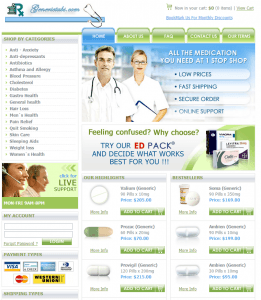 Front Page of Generictabs.com