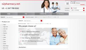 O2pharmacy.net Front End
