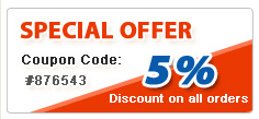 5% Special Discount Offer by Coupon Code