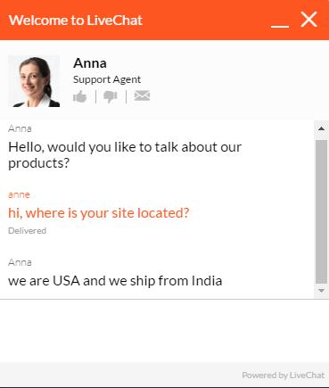 Customer Service Support via Live Chat on Acedrugstore.com