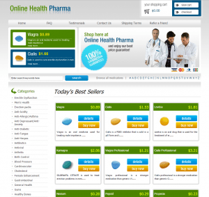 Front of Online-health-pharm.com