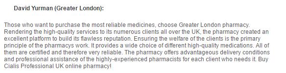 Greaterlondonpharmacy.com Reviews