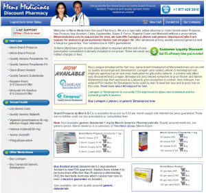Front Page of Mensmedicines.com
