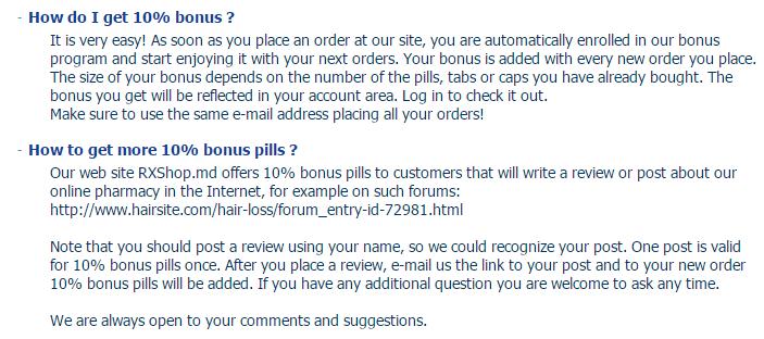 Rxshop.md Bonus Pills Offer