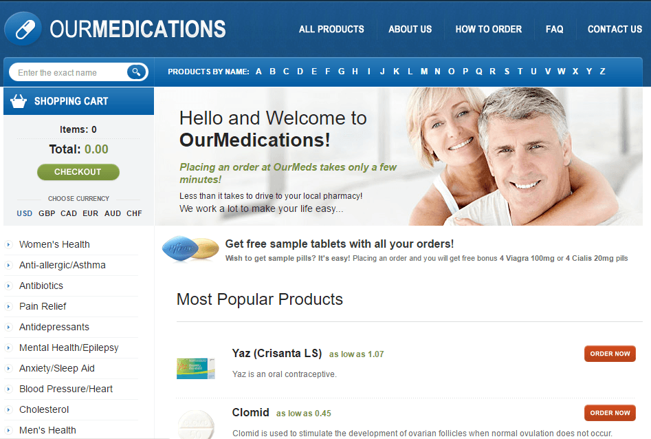 Ourmeds.org Main Page