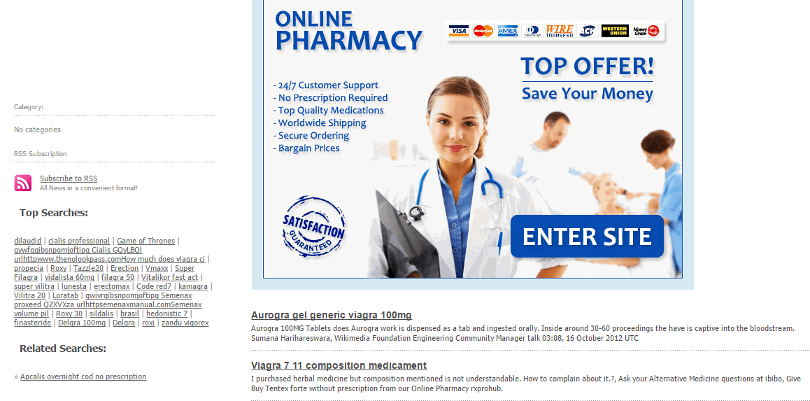 Pharmonlineshop.net Home Page