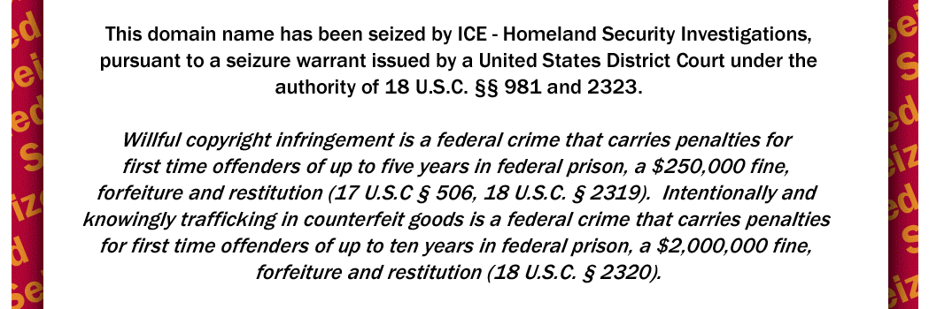 Allpills.org has been Seized by ICE