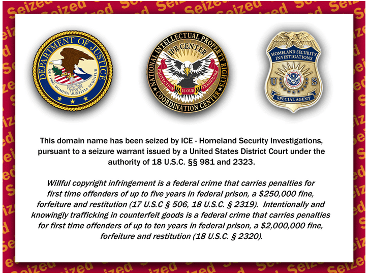 Medcanadianex.com has been Seized by ICE