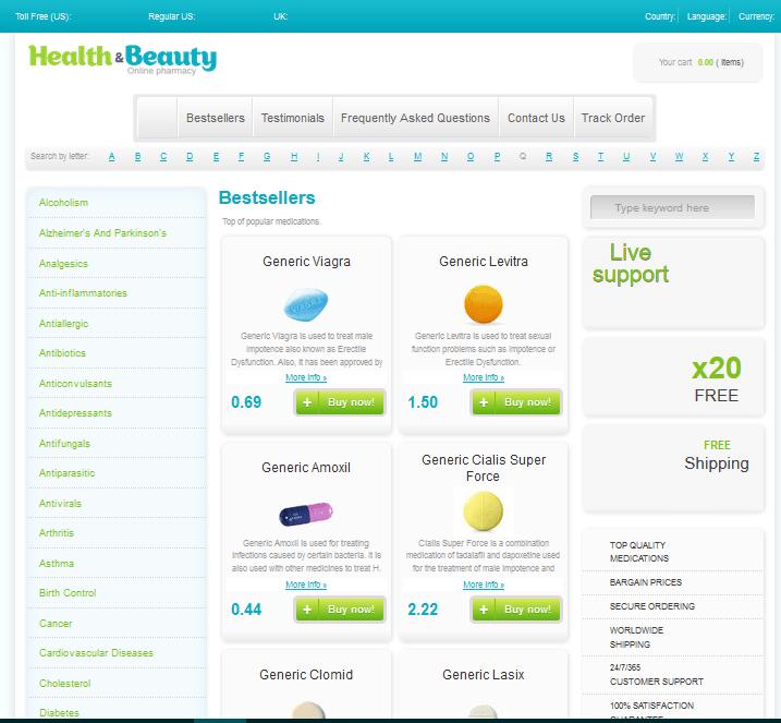 Medcanadianex.com Main Page