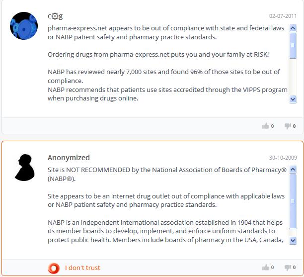 Pharma-express.net Feedback